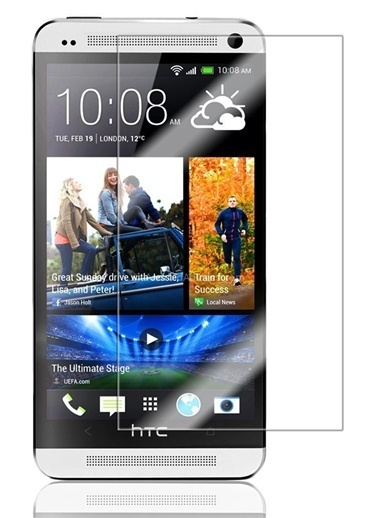 Screen Guard HTC M7 Tempered Glass Çizilmez Cam Ekran Koruyucu  Renksiz